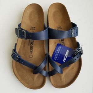 Birkenstock Mayari Blue Oiled Leather Sandals 41
